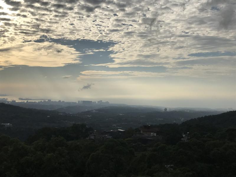 眺望臺北港&淡水新市鎮